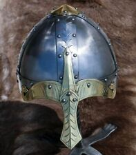 Casco Norman Nasal Armadura Larp Juego Antiguo Casco Medieval Vikingo Armadura SCA