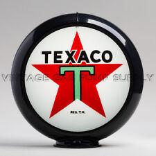 "Texaco Star 13.5"" Gas Pump Globe w/ Black Plastic Body (G192)"