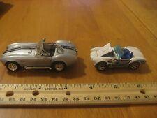 2 Shelby Cobra 427 SC Diecast Car Lot 1964 Road Signature 1/43 & 1982 HW 1/64