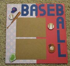 Premade Scrapbook Page Layout~ 12 by 12 Baseball