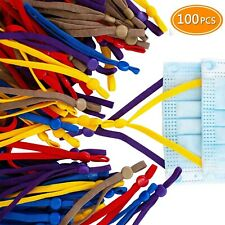 100 Pieces Sewing Elastic Band Cord with Adjustable Buckle for DIY Mask Supplies