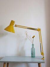 VINTAGE Danish GIALLO HCF 20th secolo modernist Clamp Anglepoise Lampada da tavolo