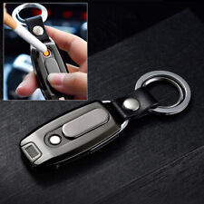 Electric Cigarette Coil Lighter Usb Rechargeable Key Chain Flashlight Windproof