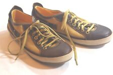 Timberland EARTHKEEPERS 8.5 Vintera Brown LEATHER Gold CANVAS Sneakers FLATS