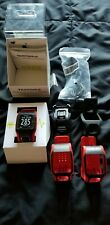 TomTom Multi Sport Cardio Gps Watch Heart Rate Monitor Red Garmin Alternative