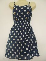 NEW PRIMARK LADIES GIRLS SUMMER  POLKA DOTS SLEEVELESS MINI DRESS COVER UP