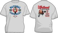 MENS 2018 OFFICIAL NATIONAL RUN SCOOTER RALLY TSHIRT VESPA LAMBRETTA PATCHES