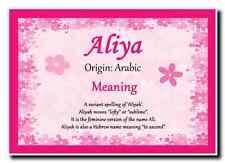 Aliya Personalised Name Meaning Jumbo Magnet
