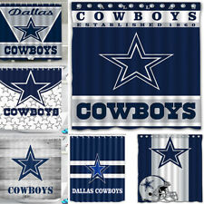 Dallas Cowboys Design Fabric Waterproof Shower Curtain Bathroom Accessory Set