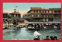 PORT SAID EGYPT RUE  COMMERCE COLMAN'S MUSTARD CAIRO SHEPHEARDS HOTEL  POSTCARD