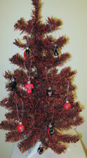 Texas Tech Red & Black 2FT Christmas Tree W/12 Assorted Football Ornaments NCAA