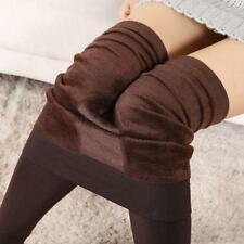 Womens Thick Warm Fleece Lined Thermal Stretchy Leggings Winter Pants Trousers