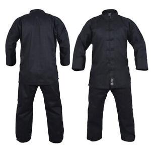 Yamasaki Kung Fu Uniform Gi 10oz - Black - Kids & Adult Sizes - Morgan Sports