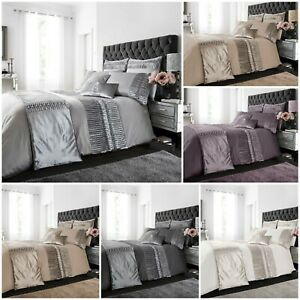 Luxurious PORTO Fancy Duvet Cover Quilt Cover/Runner/Cushion Cover All Sizes