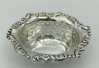 Pierced Antique Edwardian Solid Silver bonbon dish Marks & Cohen Birmingham 1905