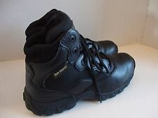 Womens magnum ion mask waterproof tactical black leather work boots shoes sz 7.5