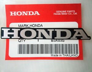 HONDA MARK 120mm SILVER / BLACK STICKER DECAL LOGO BADGE 100% GENUINE *UK STOCK*