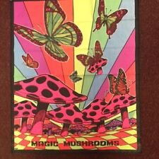 Vintage Tapestry - Blacklight - Magic Mushrooms