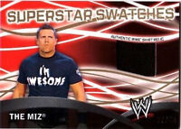 WWE The Miz GOLD Topps 2011 Superstar Swatches Event Used Shirt Relic Card 37/50