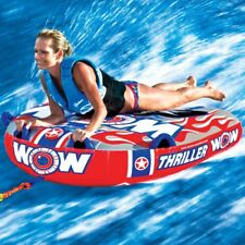 Wow Big Thriller 2 Person Towable Ski Tube Inflatable Biscuit Boat Ride
