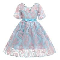 Girl's Lace Princess Dresses Wedding Gown Flower Girl Party Formal Kid Xmas Gift