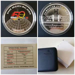 2020 Malaysia 10 Ringgit UKM 50th Single Silver Proof Commemorative Coin