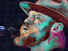 ZAC BROWN BAND COUNTRY MUSIC ART PRINT POSTER OIL PAINTING LFF0224