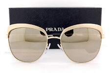 c827f4fa3e Brand New Prada Sunglasses PR 51TS VAQ 1C0 Gold Gold Mirrror For Women