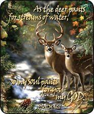 Queen Deer Creek Scripture Psalm 42:1 Mink Faux Fur Blanket Warm Super Soft Full
