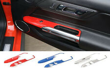 RED ABS Windows Lift Panel Decorative Cover Frame fit for Ford Mustang 2015 2016