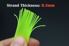 3pcs Colors 50cm Silicone Skirts Round Cylinder Spinner Bait Squid Rubber Thread