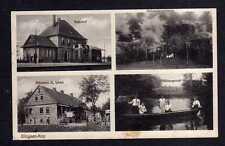 115448 AK Glogsen Kay Bahnhof1934 Bäckerei A. Linke Mühlengrund Schwedenschanze