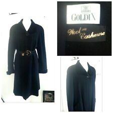 jacket coat sexy winter black mid length velvet wool size 12 14