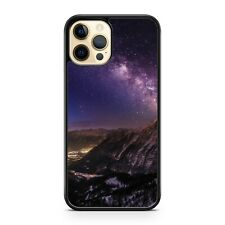 Elegant Mountains Purple Cosmic Starry Milky Way Galaxy Space Phone Case Cover