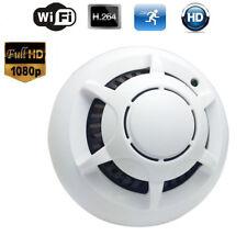 HD 1080P IP Camera Smoke Detector Wireless WIFI Alarm Security Hidden Nanny Cam