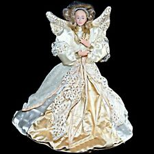 Vintage Holiday Creations 12 inch Angel Christmas Tree Top Topper Poseable Arms