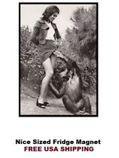 127 - Funny Monkey Look Up Dress Fridge Refrigerator Magnet
