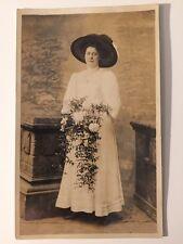 Vintage Postcard - RP Anonymous People - Woman #10