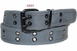 "Canvas Double Grommet Hole Belt "" 100% Cotton & Strong & Unisex "" Up to 4XL"