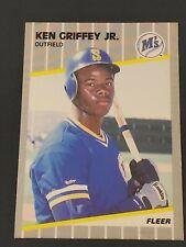 1989 Fleer Baseball #548 Ken Griffey Jr RC Rookie (Mariners) NM-MT