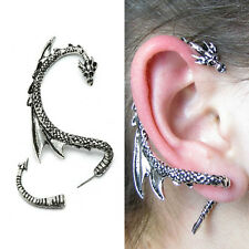 New Fashion Silver Dragon Snake Ear Cuff Punk Clip Wrap Lure Gothic Stud Earring
