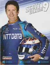 2017 Scott Dixon NTT Data Honda Dallara Indy Car postcard