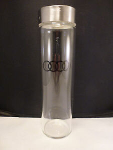 Genuine Audi Collection 24oz Water Bottle  made of GLASS    NEW