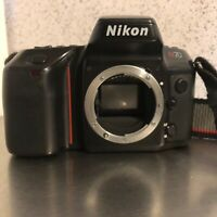 Nikon N70 35mm SLR Film Camera Body Only With Nikon Strap Auto Exposure Focus