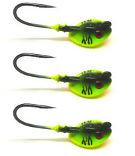 3Pcs Jig Head Fishing Hook Green NEW