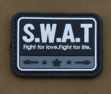 """PVC / Rubber Patch """"S.W.A.T"""" with VELCRO® brand hook"""