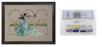 MIRABILIA Cross Stitch PATTERN & EMBELLISHMENT PK Garden Prelude MD165