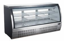 Saba 82 Commercial Deli Casedisplay Case Refrigerator With Curved Glass