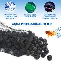 100pcs/pack Aquarium Bio Balls Filter Media with Filter Bag for Fish Tank Pond