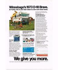 1973 Winnebago D-18 Brave Duck Hunters Vtg Print Ad